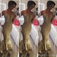 2019 أزياء الذهب الترتر حورية البحر اللباس وصيفة الشرف أكمام خادمة الشرف ثوب زائد الحجم مخصص