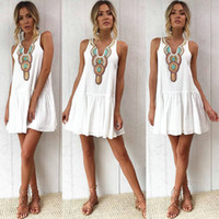 e8476be6f Wholesale china clothes resale online - Cheap Summer Women clothes Bohemia  Print Beach Dresses Loose Sleeveless