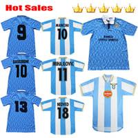 1991 1992 LAZIO RETRO VERRO 1999 2000 1989 Soccer Jersey 91 92 99 00 غير متحرك سيرجج Salas Mihajlovic Veron Stankovic Football Shirts