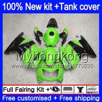 + Tank KAWASAKI ZX250R EX250 08 09 2010 2011 2012 201MY.129 EX 250 ZX 250R EX250 ZX250R EX250R 2008 2009 10 11 12 Fairing Siyah Green İçin