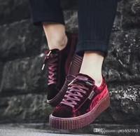 cf94d261ef8 Compre Com Sapatos Originais Chumbo Fenty Rihanna Sapatos Mulheres ...