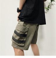 Moda para hombre pantalones cortos verano Hip Pop estilo overoles hombre Casual secado rápido algodón Shorts diseñador