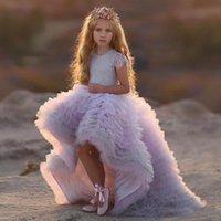 뜨거운 사랑스러운 작은 여자 미인트 드레스 보석 목 레이스 계단식 계단식 높은 낮은 길이 싼 여자 드레스 결혼 생일 가운을위한 드레스