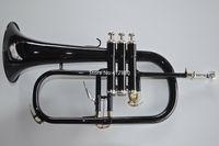 فريدة من نوعها الأسود ب ب Flugelhorn النحاس بيل عالية الجودة آلة موسيقية المهنية مع القضية زينة شحن مجاني