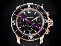 OM fábrica Cincuenta Brazas cronógrafo Flyback 5085FB para hombre reloj suizo automático reloj mecánico 7750 28800 vph 18K Rose Sapphire