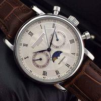 新しい男性茶色の革のファッション機械メンズステンレス鋼の自動運動腕時計スポーツメンズ腕時計keyaa u1工場