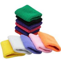 10 pcs Cotton Feito Elastic apoio para o punho de protecção de segurança Ginásio Braçadeiras Sweatbands Sporting apoio para o punho Acessório Outdoor