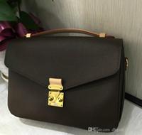 Mulheres designer quente bolsa mensageiro bolsa de couro oxidante POCHETTE metis sacos de ombro elegantes sacos crossbody compras garras da bolsa 40780