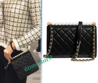2019 Hot Fashion Pearl Chain Shoulder Bag 21cm Women' s ...