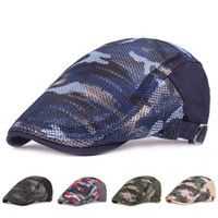 الرجال / النساء تصميم الأزياء القبعات القبعات الصيف تنفس شبكة التمويه الصيف قبعة موزع الصحف قبعة اللبلاب كاب سائقة تاكسي أجرة