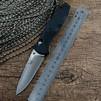 BM580 Axis Folding Survival Knife OEM with satin blade brass...