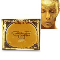 Máscara del Bio colágeno cara cristalina de oro hidratante máscaras faciales de la piel de las mujeres de belleza cara cuidado de la cara de la máscara 10pcs