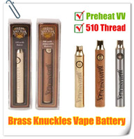 MOQ 5PCS Messingknöchel Ladegerät Kit 510 Thread Vape Pen Batterie 650 900 mAh Gold Holz Vorhitze Spannung Einstellbare dicke Ölkassettenbatterien