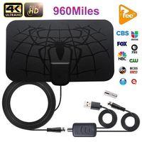 Cubierta 960 Millas digital Antena HDTV antena de TV de la antena DVB-T2 4K TDT ISDB-TB de difusión local en el envío libre