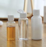 30 ملليلتر فارغة حاوية زجاجة موزع شامبو غسول ضغط جرة البلاستيك واضح ماكياج السفر إعادة الملء زجاجة KKA7765