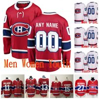 Cucito 2020 Montreal Canadiens Maglie Nate Thompson Max Pacioretty Guy Lafleur Jeff Petry Christian Folin Folin Red White Hockey Jerseys personalizzato