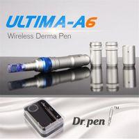 Microneed Derma Rollenfeder nachladbare drahtlose Derma Pen Microneedle Dr. Pen ULTIMA A6 mit Nadelkartuschen für scar remova