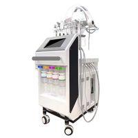 9 in 1 Multifunktions-LED-Therapie Aqua-Gesichtsreinigung Sauerstoff-Maschine / 2019 Neue Haut-Spa-Gesichtsmaschine Hautpflegemittel Schönheitsausrüstung