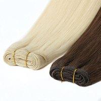 الهندي عذراء الشعر الإنسان 3 تعيين قطعة واحدة 613 # شقراء مستقيم لحمة الشعر 10-26inch المنتجات بالجملة مزدوجة لحمة