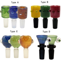 Newest Colored 14mm 18mm Male Heady Glass Bowls With Handle ...
