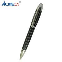 Le plus récent stylo à bille noire en métal avec motif de vérificateur MB Style Crystal Logo Brand Cadeaux de luxe pour hommes