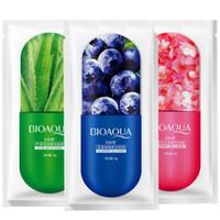 BIOAQUA 젤리 마스크 페이스 케어 알로에 베라 블루 베리 벚꽃 세 가지 유형 선택 보습 수면 젤리 페이셜 마스크