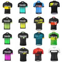 سكوت فريق الدراجات قصيرة الأكمام جيرسي الدراجة الملابس سريعة جافة دراجة الدراجة الجبلية روبا ciclismo c2605