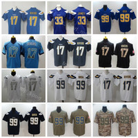 Los Angeles Chargers Football 99 Joey Bosa Jersey Men 17 Philip Rivers 33  Derwin James Vapor Untouchable Salute to Service Blue White Green c2bcc4565