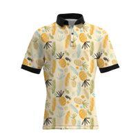 19SS New Style Ananas Druck Männer Casual Polo Shirts Hot Sellers GROßE GRÖßE Herren Designer T Shirts Lose Version