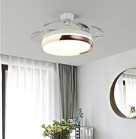 Подсветки потолочного вентилятора Светодиодные туманные люстры убирающиеся вентилятор с дистанционным отключением потолочных вентиляторов для столовой / спальни 42 дюйма