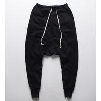 Toptan-Mens koşucuların Casual pantolon pantolon harem Erkek OPK-325 için Erkekler siyah Moda yağma dans damla kasık Hip Hop ter pantolon eşofman