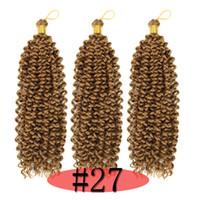 Sintetico di alta qualità che intreccia capelli ricci Ombre Biondi Colore Freetress Crochet Water Wave 100g sintetico di estensioni dei capelli