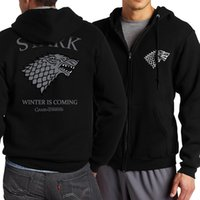 New Arrival Game of Thrones Zipper Men Sweatshirt 2018 Sprin...