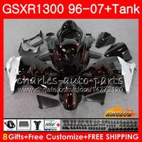 Kit für SUZUKI GSXR-1300 rote Flammen heiß GSXR1300 Hayabusa 96 97 98 99 00 01 07 24HC.77 GSXR 1300 1996 1997 1998 1999 2000 2001 2007 Verkleidungen