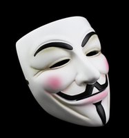 Partido Máscaras V for Vendetta Máscara Máscaras Anonymous Guy Fawkes Fantasia Adulto Costume Acessório Partido Cosplay Halloween