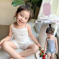 7plus1 아이 여자 nightclothes 아기 탑 + 바지 세트 여자 잠옷 잠옷 3T 소녀 잠옷 밤 재배