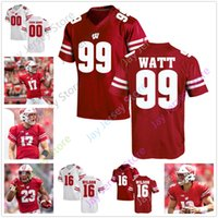 Individuelle Wisconsin Badgers Football Jersey College-57 Jack Sanborn 99 J. J Watt 16 Russell Wilson