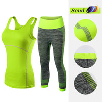 Vêtements de remise en forme Stripe Tennis Yoga Yoga Vest + pantalon Running Tight Jogging Workout Vêtements Pour Femmes Survêtement Sport Suit SH190901