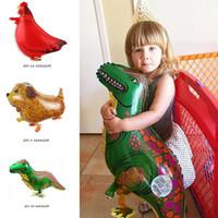 جودة عالية dinosaure بالون الهيليوم المشي الحيوانات الأليفة احباط بالونات مع حجم كبير للأطفال عيد إمدادات حزب هدية ألعاب