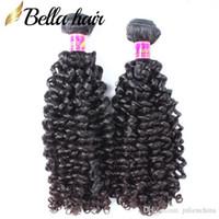 بيلا 2PCS / LOT بيرو مجعد الشعر الإنسان أعلى جودة بيرو ملحقات الشعر اللون الطبيعي بيرو الشعر حزم شحن مجاني