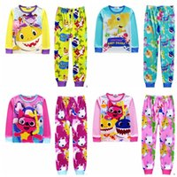 Kids Outfits Baby Shark Boys Pajamas Suits Cartoon Children ...