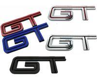 1pcs 2005-2010 Ford Mustang GT Emblem Chrome Rouge Noir Bleu Side Fender Trunk remplacement Badge