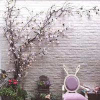 등나무 DIY 홈 웨딩 가든 EEA350 매달려 화환 유연한 플라스틱 덩굴 벽 매달려 인공 장식 가짜 꽃 가지