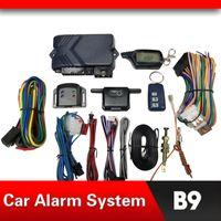 Alarme do carro Sistema Russo Versão Alarme em dois sentidos para B9 com controle remoto Engine Start LCD Controle Key Fob capa para B9