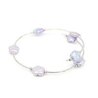 Modo di alta qualità di fabbrica d'acqua dolce diretta perle braccialetto del fiore incanta il braccialetto registrabile handmade trasporto libero regalo delle donne