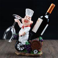 Resina Wine Chef rack de vinho Garrafa titular vinho casa Ornamentos prateleira Crafts Prateleira Prateleira para o partido Preferências