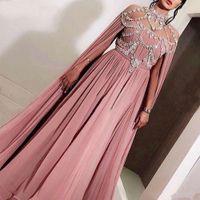 Aso Ebi арабский шифон нигерийский стиль кружева плюс размер длинные платья выпускного вечера 2019 вечерние платья халаты де demoisell Дубай кафтан вечерние платья