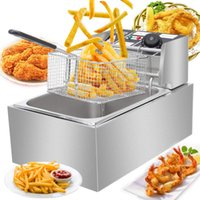 Mini Deep Fryer Electric Fryer Horizontal Bar Commercial Tab...