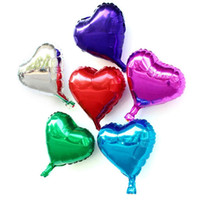 10 inch Heart Shape Foil Balloon Auto- Seal Reuse Party   Wed...