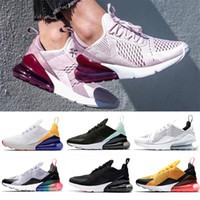 270 Nuevas llegadas 2019 diseñador Hombres Zapatos Negro Triple Blanco Cojín Mujer Zapatillas de deporte Atletismo Zapatillas de deporte zapatillas tamaño 36-45